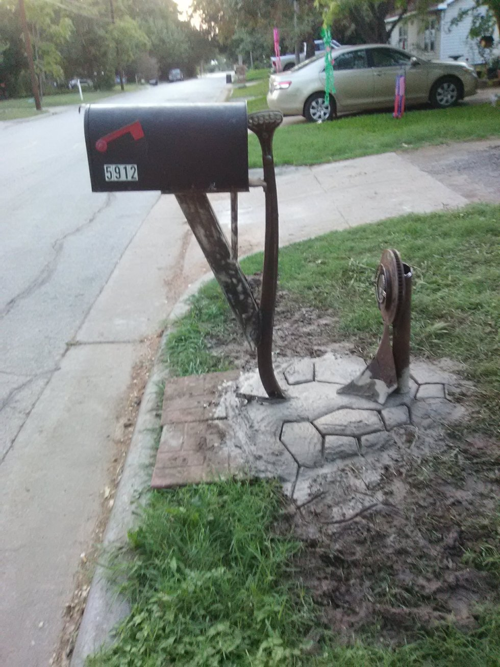 Metal Mailbox Sculpture