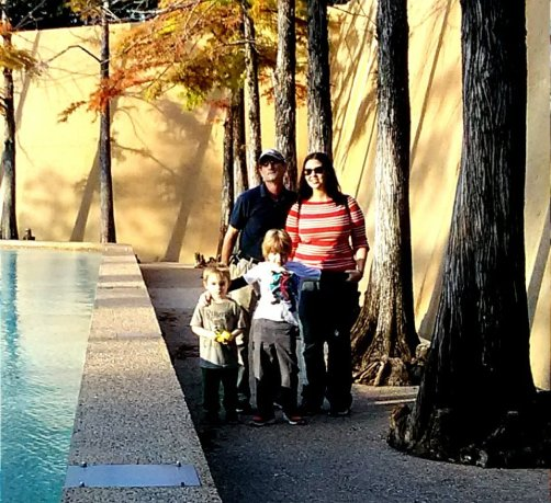 Family at the Water Gardens, Fort Worth, TX