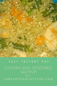 Chicken and vegetable quinoa
