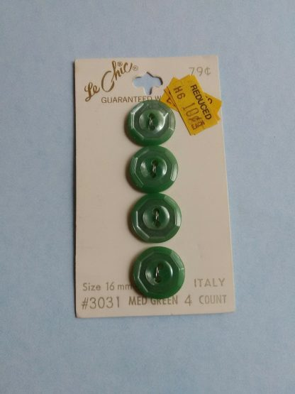 Medium Green Round Buttons