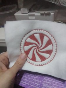 Peppermint Candy Coaster almost complete