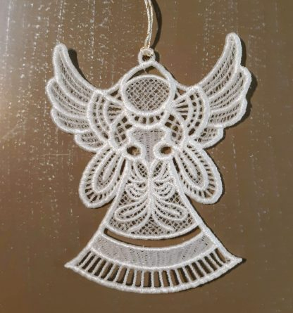 White Angel Lace Ornament