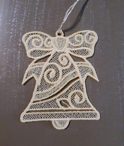 Off White Cream Bell Lace Ornament