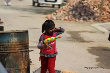 A Girl with her Water Canon