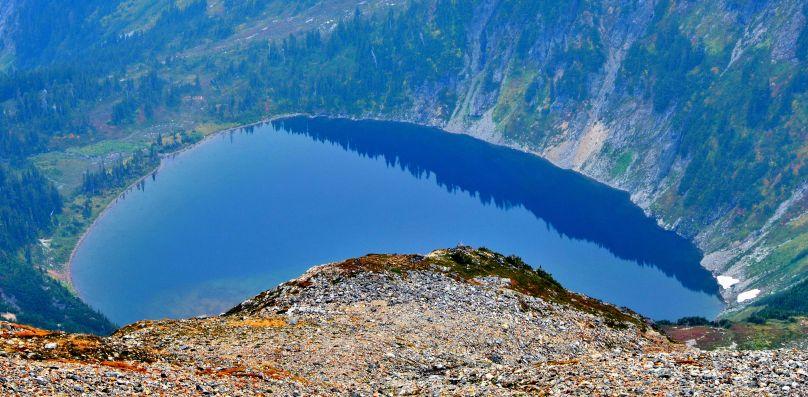 Doubtful lake from Sahale camp
