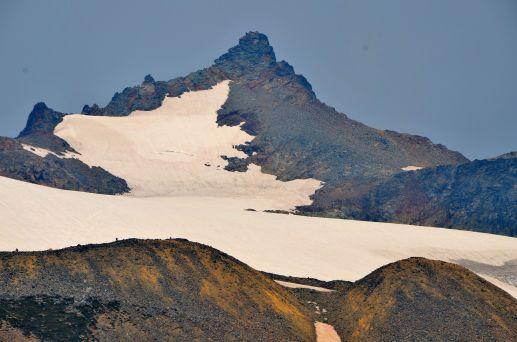Sahale peak and camp area