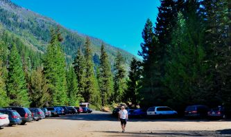 Trail head parking lot