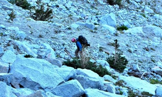 Chuck hiking up. 9:07 AM.