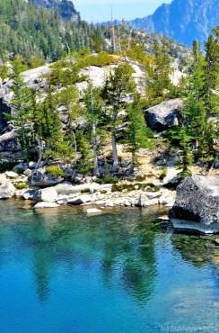 Viviane Lake beach - if it can be called a beach