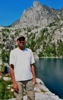 Me in front of Lake Viviane