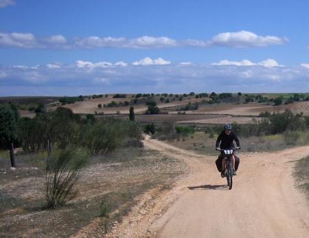 Sandra camino a Torrijos
