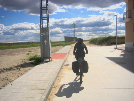 Sandra camino a La Mata