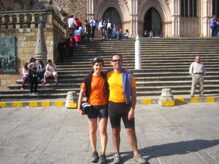 Jorge y Sandra en el Monasterio de Guadalupe