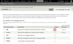 Enable URL Detection Method