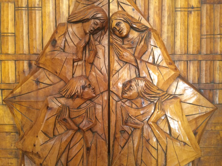 Beautiful carved doors at the Church of the Nativity in Bethlehem