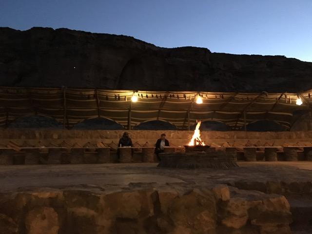 Travel with Kids - Bonfire at Beit Ali in Wadi Rum