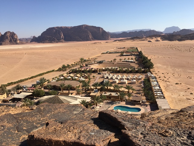 Travel with Kids - View of Beit Ali from the top of the hill in Wadi Rum