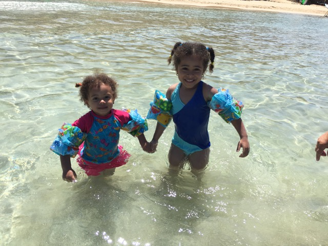 Travel with Kids - Playing at the beach at Achziv in Northern Israel