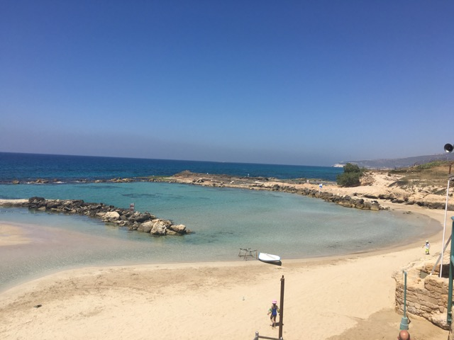 Travel with Kids - Beautiful Beach at Achziv in Northern Israel