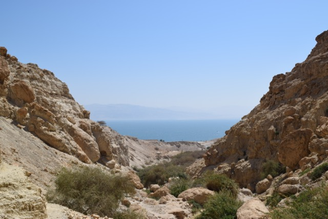 Travel with Kids - View of the Dead Sea from the Ein Gedi Trail