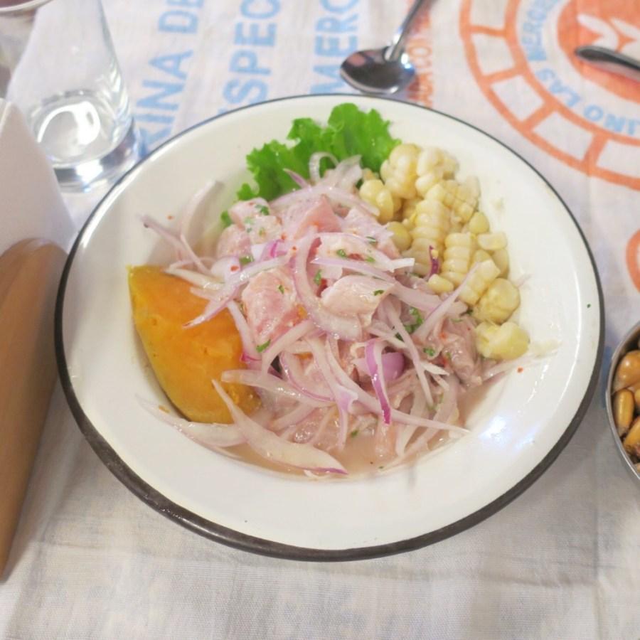 Ceviche at Canta Rana