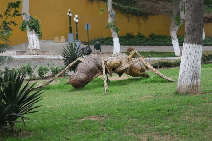 Human-sized ant in Barranco, Lima