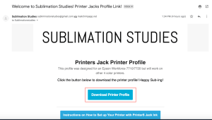 How to install a Sublimation ICC Printer Profile
