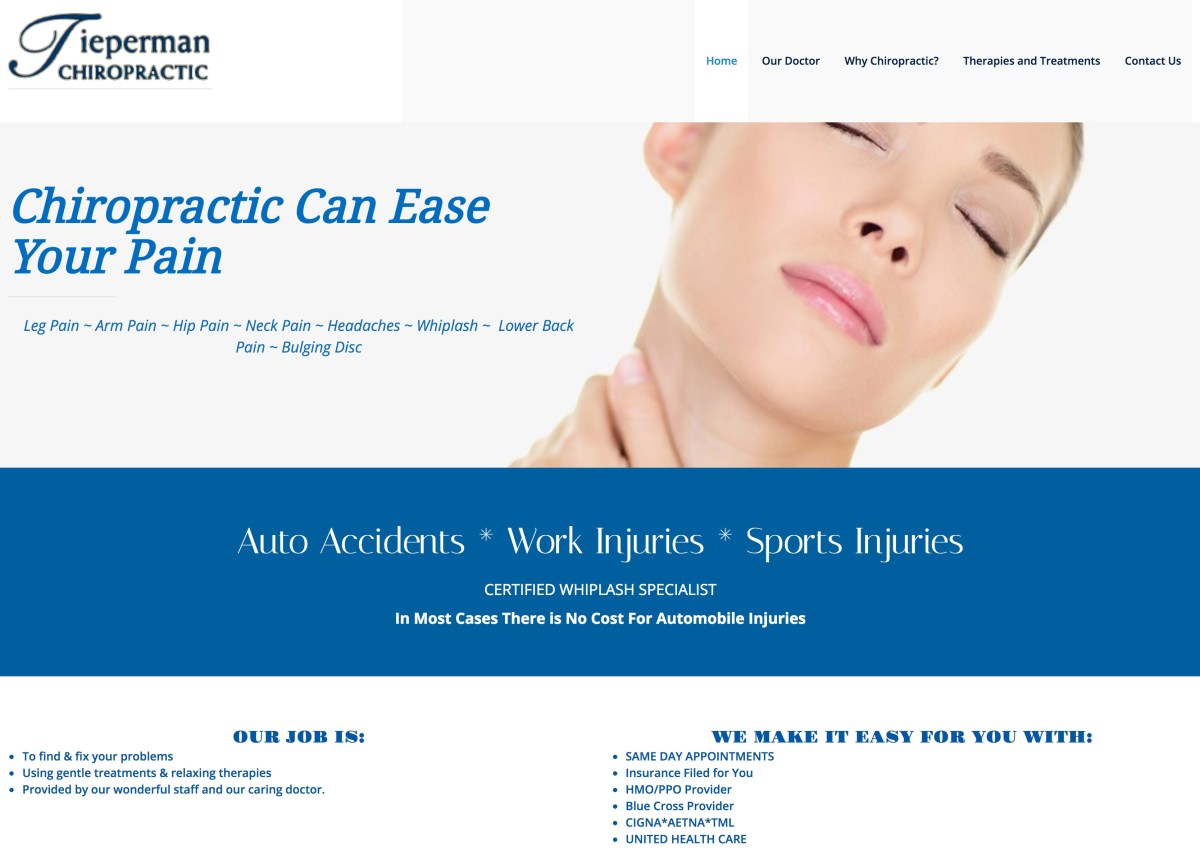 Tieperman Chiropractic in Madisonville and Buffalo, Texas