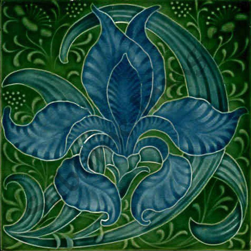 an035 art nouveau backsplash tiles reproduction ceramic or glass tiles