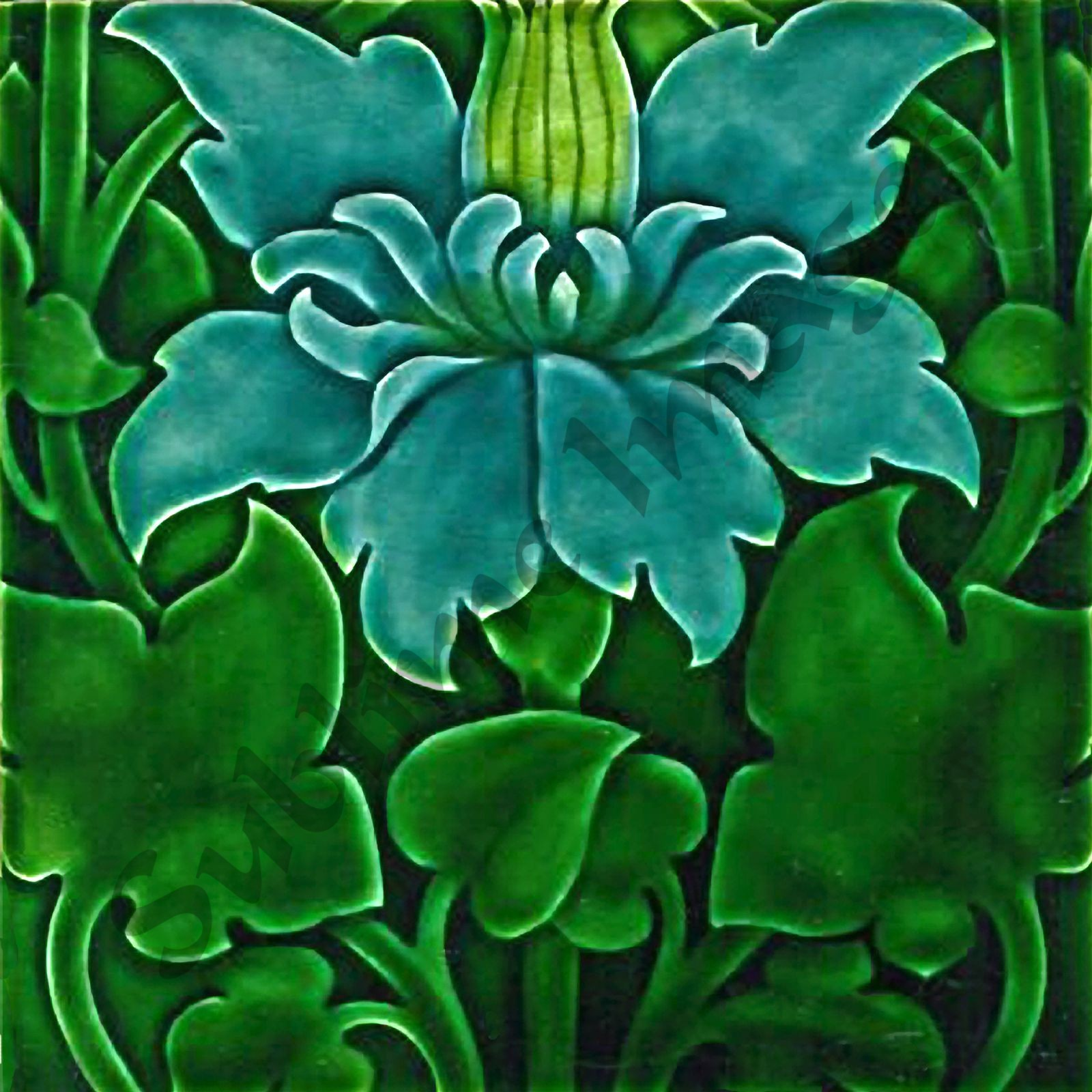 an039 art nouveau backsplash tiles reproduction ceramic or glass tiles