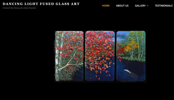 Dancinglightfusedglass.com