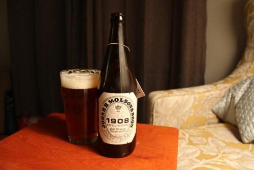 A pint of 1908 Historic Pale Ale.