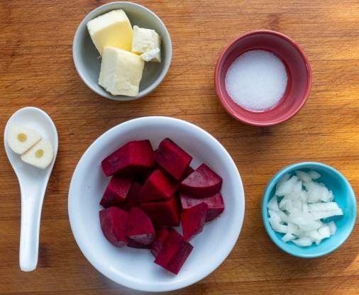 Beet Purée ingredients