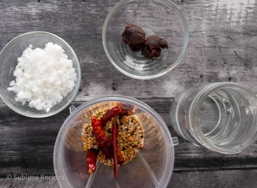 Blend roasted ingredients with coconut