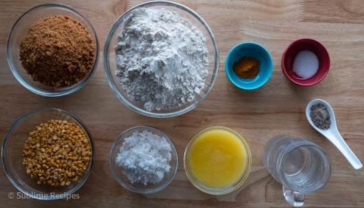 Ingredients for Puran Poli