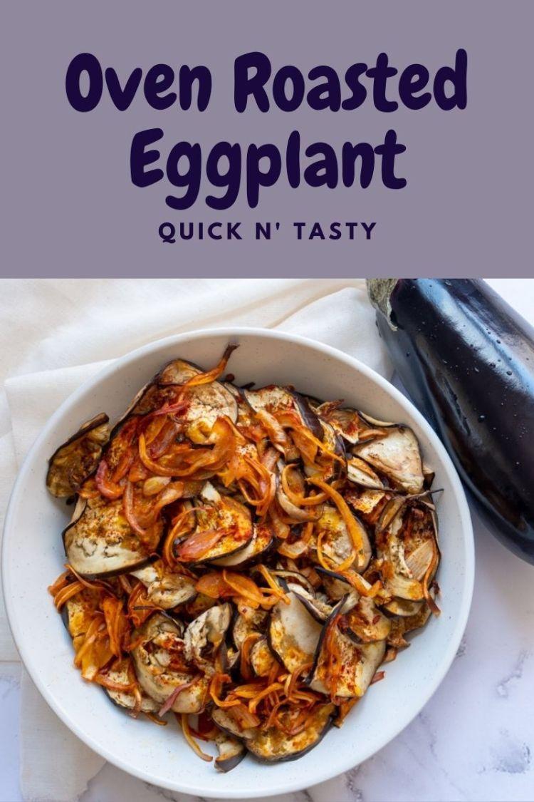 Overhead shot of Oven Roasted Eggplant