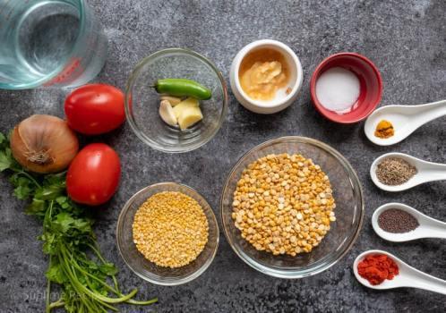 Ingredients for chana Dal Mastani