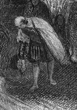 Thomas Abel Prior, after J M W Turner Heidelberg, 1859, detail of bowing figure, lower right Steel engraving, image size 174 x 262 mm Collection; the author Photograph by David Hill