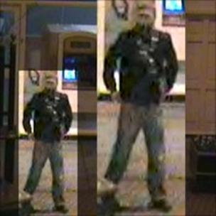 Images of the suspect in the Alan Wood murder case