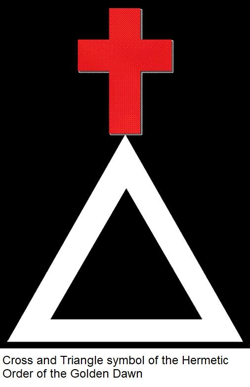 Golden Dawn Cross Triangle
