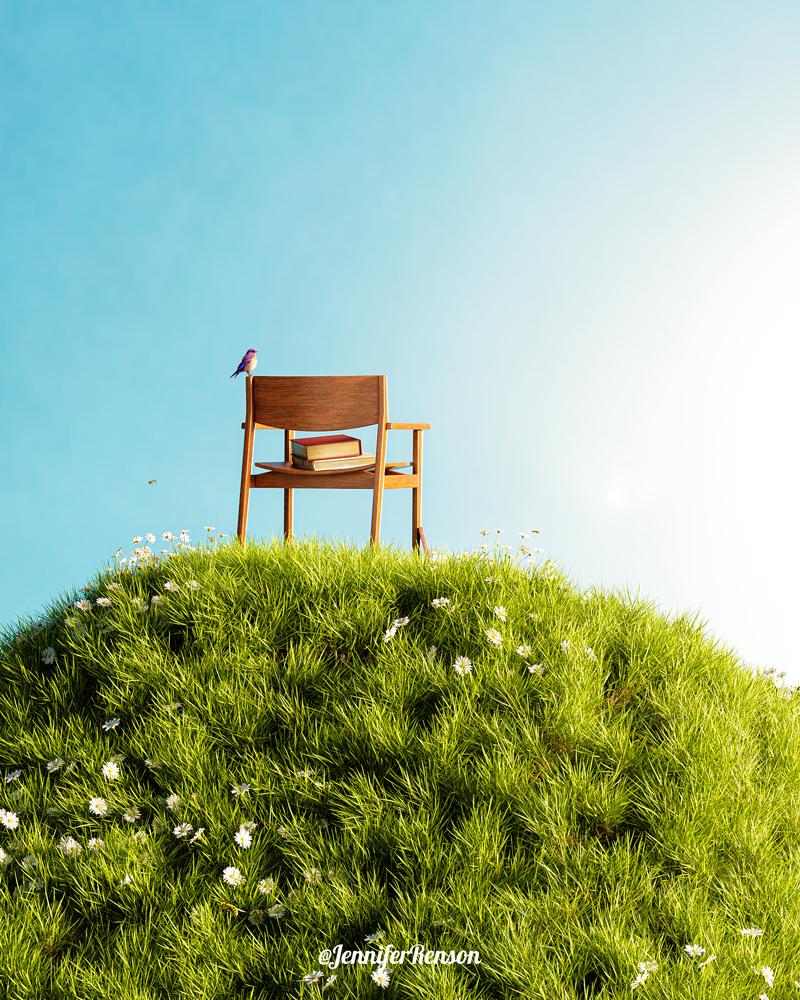 image conceptuelle 3D et photoshop