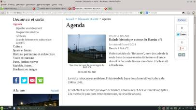Merci aussi à la Direction de la com' de la ville de Bordeaux pour la publication sur l'agenda!
