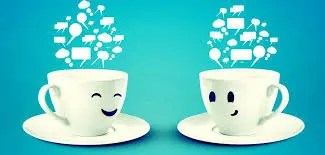 quite times - two tea cups talking