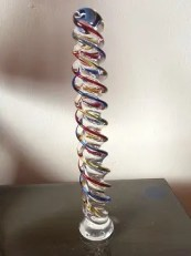 Picture of anal twister - glass twisted dildo
