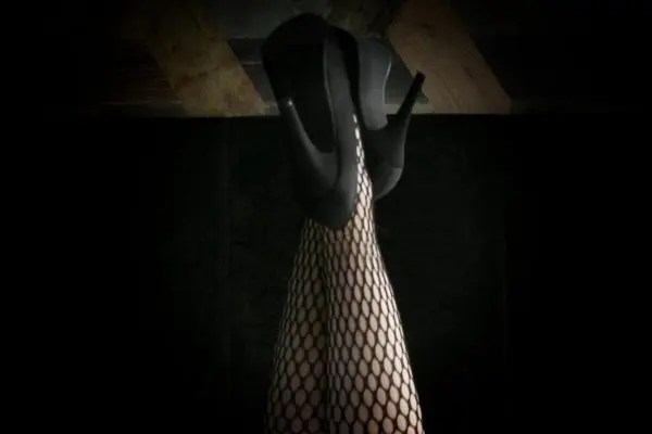 sexy Heels and fishnets