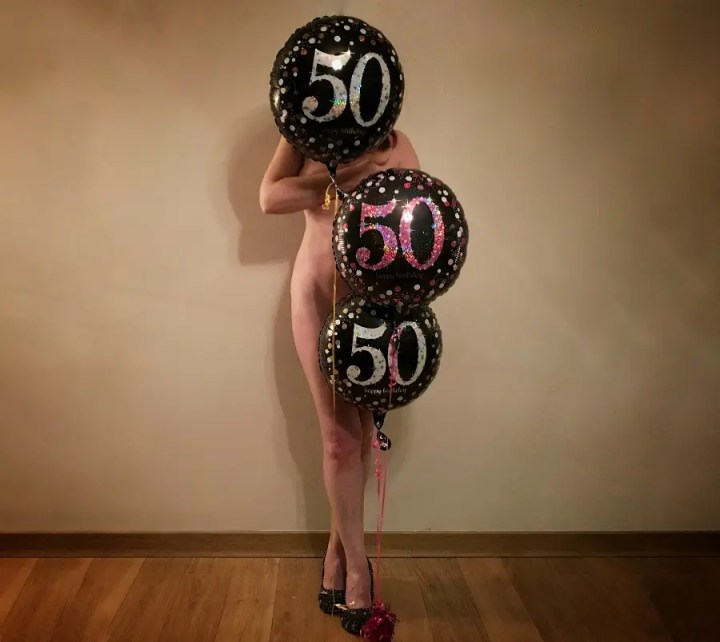Fifty Birthday Balloons