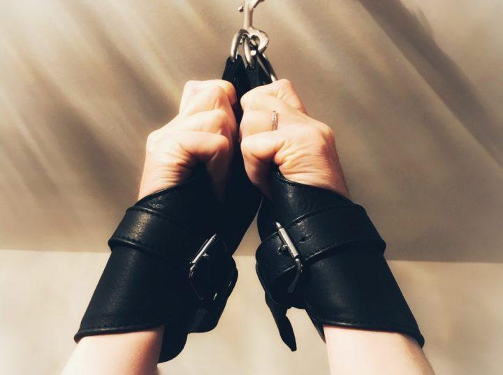 Bondara leather suspension cuffs