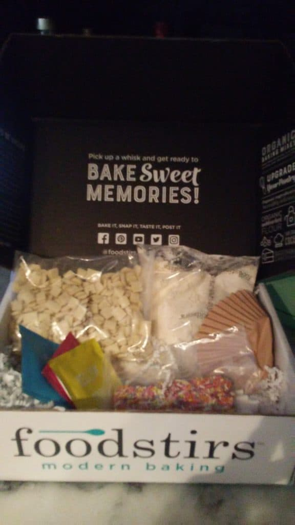 I'm ready to bake some memories with my fully stocked foodstirs box!