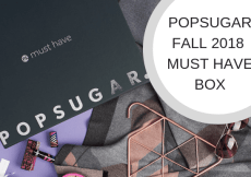 POPSUGAR FALL 2018 MUST HAVE BOX
