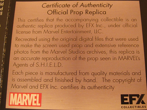 Certificate of Authencity